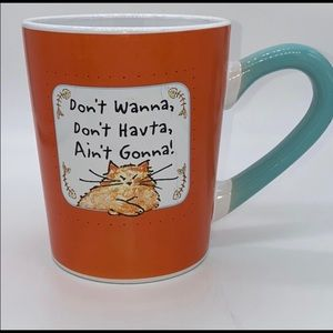 Lot of 2 Kitty Cat Mugs Cups